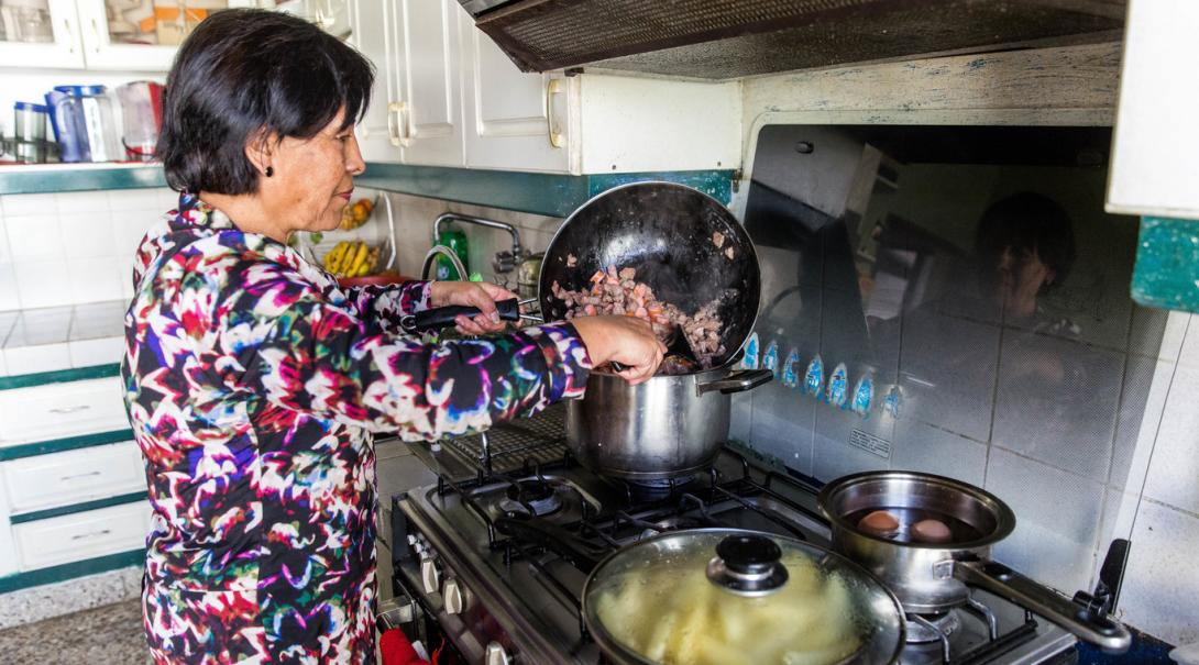 Volunteers receive home cooked meals during their time with their host families abroad.